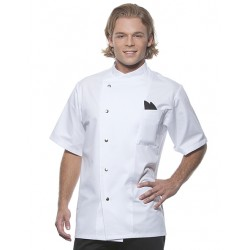 Chef Jacket Gustav Short Sleeve Wit
