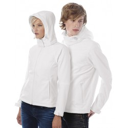 Hooded Softshell man Dark Zwart