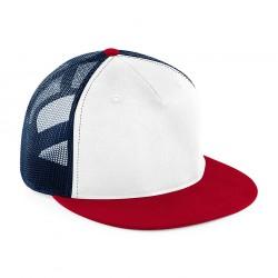 Beechfield cap BC845WhiteFrNavyRed