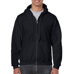 Gildan Full Zip Hooded Sweat 18600 Black