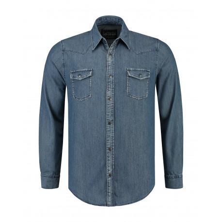 Lemon & Soda Shirts Denim for Him Blue Denim
