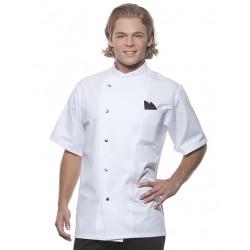 Chef Jacket Gustav Short Sleeve Wit