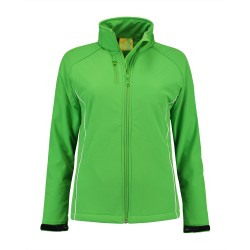 L&S Jacket Softshell for her Lime