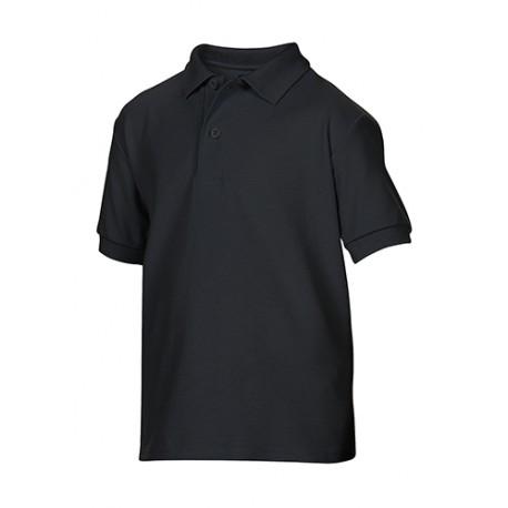 DryBlend® Youth Double Piqué Polo Zwart