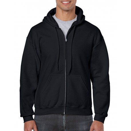 Gildan Full Zip Hooded Sweat 18600 Black